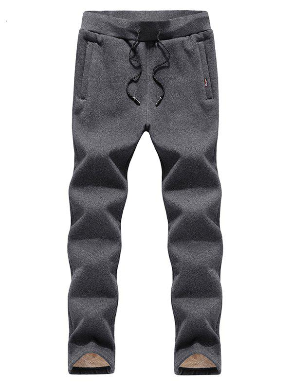 Shop Black Winter Casual Men's Straight Trend Pants