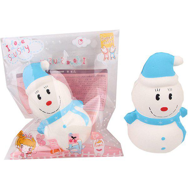 Affordable Squishy Slow Rebound Hooded Snowman PU Christmas Simulation Cake Decompression Toy