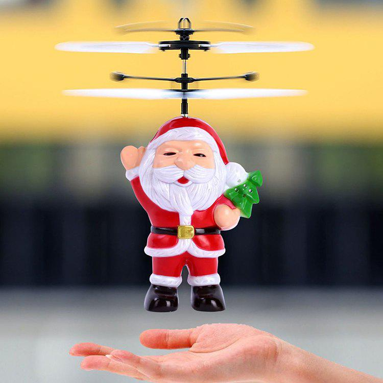 New Christmas Santa Claus Suspension Helicopter Toy Gift for Children