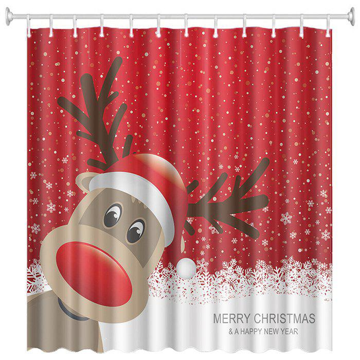 Outfit Christmas Print Pattern Waterproof Breathable Mildew Bathroom Partition Shower Curtain