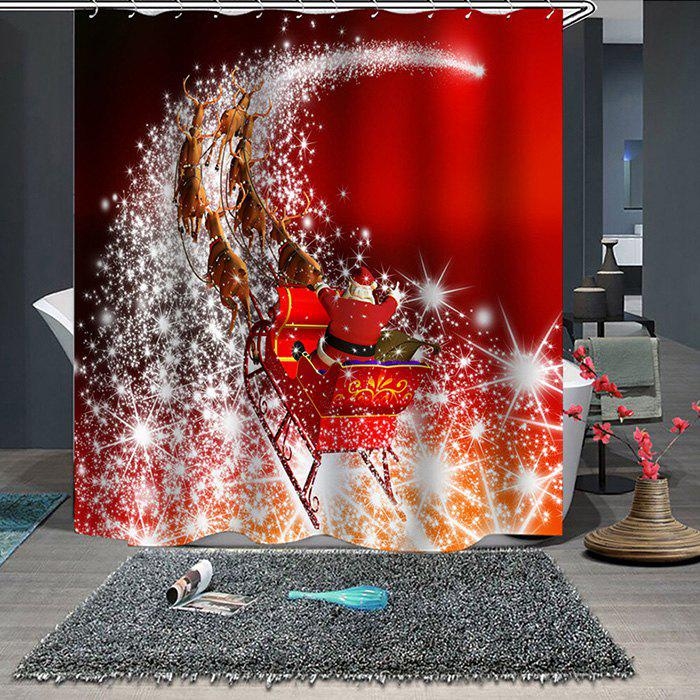 Online 180 x 180cm Christmas Print Pattern Waterproof Breathable Bathroom Partition Shower Curtain