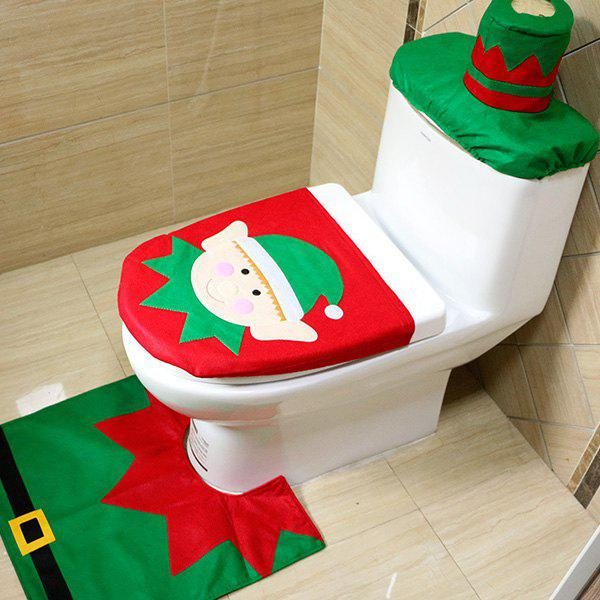 Buy Christmas Decoration Toilet Cover Floor Mat Water Tank Cover