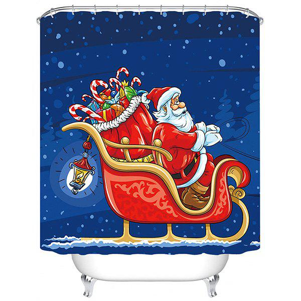Unique 180 x 180cm Flying Christmas Sled 3D Digital Printing Thick Waterproof Mildew Resistant High-grade Polyester Shower Curtain