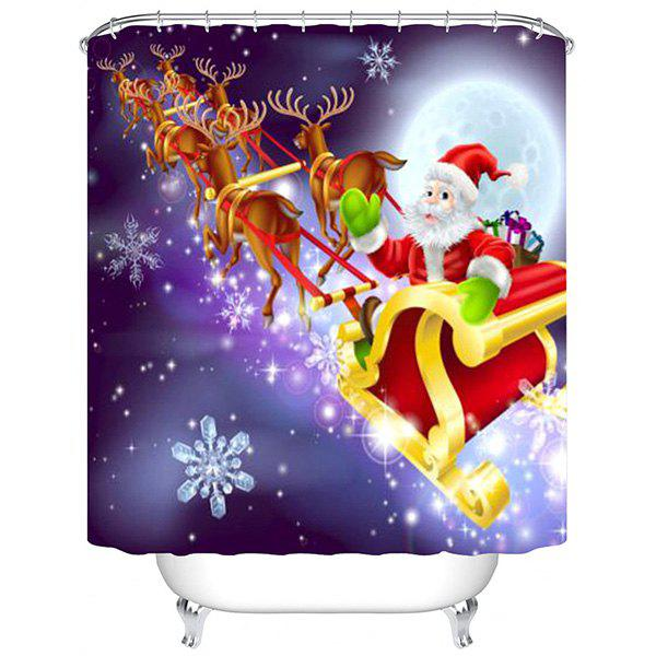 Best 180 x 180cm Flying Christmas Sled 3D Digital Printing Thick Waterproof Mildew Resistant High-grade Polyester Shower Curtain