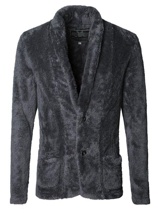 Latest Men Fashionable Thicken Plush Cardigan Suit Jacket