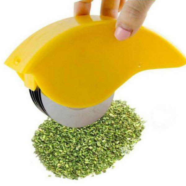 Stainless Steel Roller Cutting Multi-function Chopper Jaune
