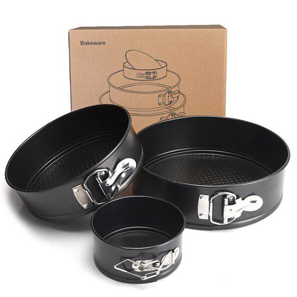 Outfit High Quality Carbon Steel 4 Inch 7 Inch 9 Inch Live Bottom Non-stick Surface Round Cake Baking Tray