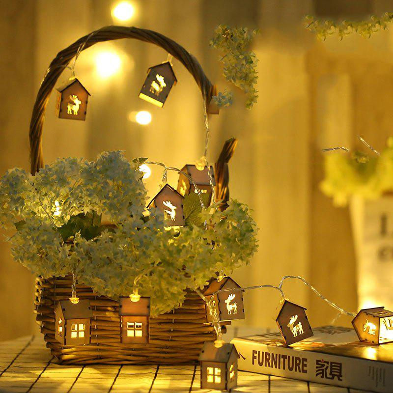 Cheap Wooden House Elk Lamp String Indoor Living Room Christmas Decoration Lamp