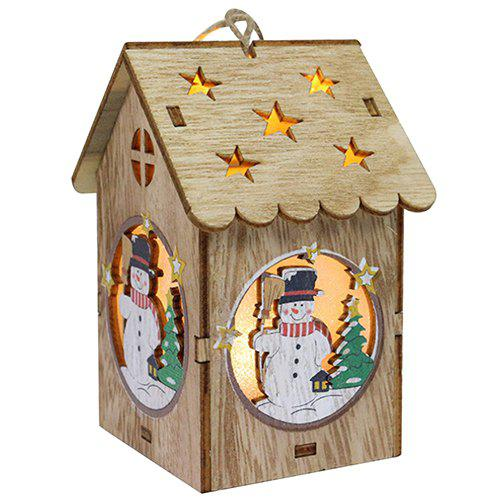 Fashion Creative Wooden Lighting Small House Gift Christmas Day Decoration