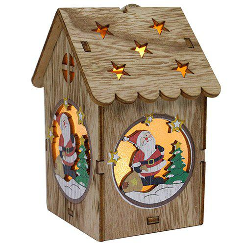 Online Creative Wooden Lighting Small House Gift Christmas Day Decoration