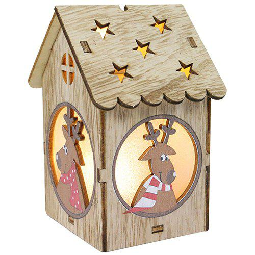 Shops Creative Wooden Lighting Small House Gift Christmas Day Decoration