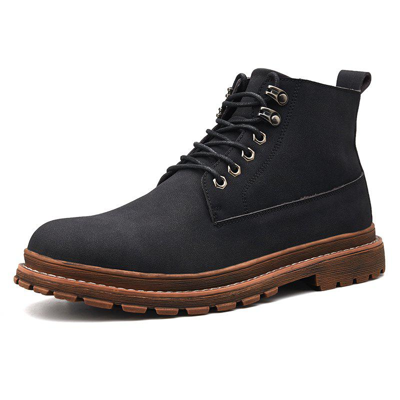 Sale Men Leisure Boots Comfortable Classic High-top Lace-up