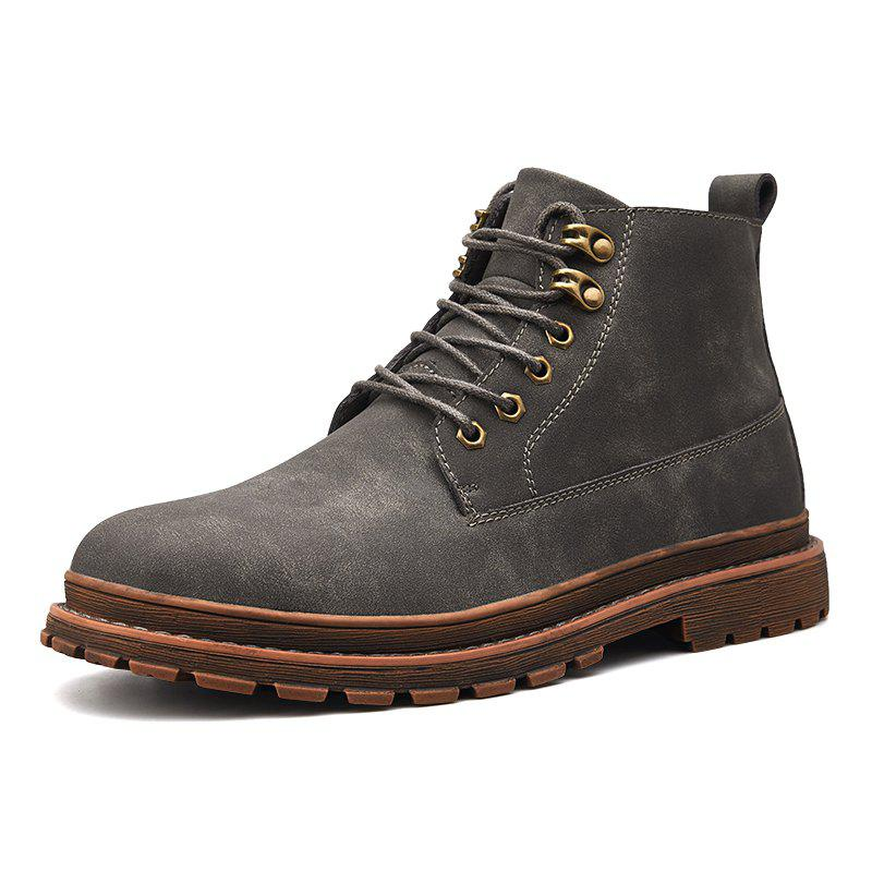 Fancy Men Leisure Boots Comfortable Classic High-top Lace-up