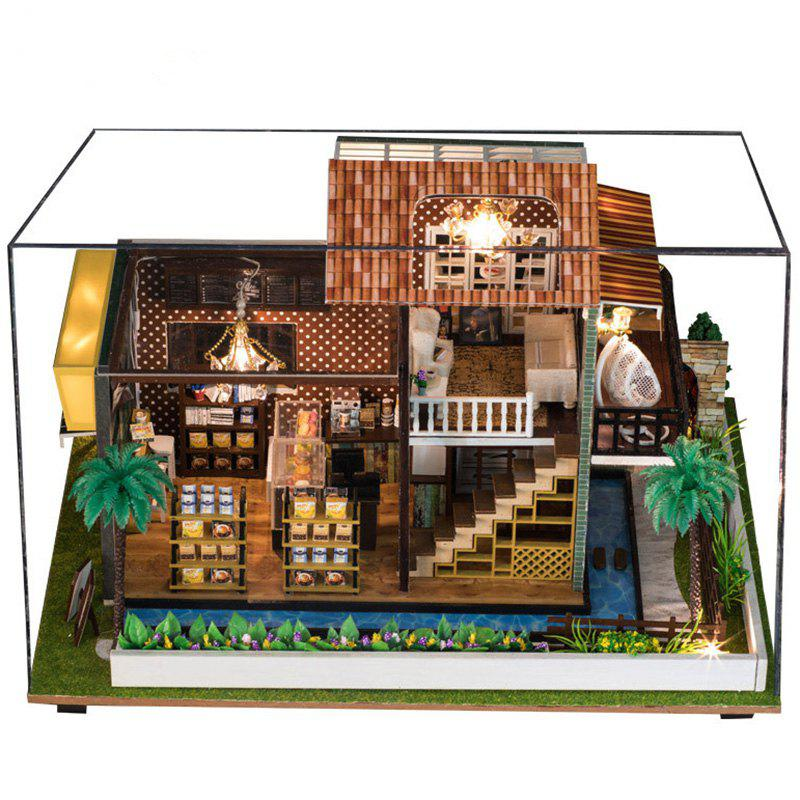 Online Cafe Dollhouse DIY House Doll House Wooden