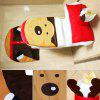 Christmas Decoration Toilet Cover Floor Mat Water Tank Cover -