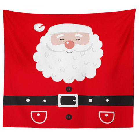 Decorative Tapestry Christmas Series TV Background Wall Landscape Polyester Cloth Lanyard - RED - 2