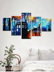 Forest Street Print Unframed Split Canvas Paintings -