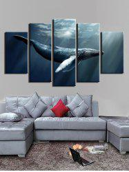 Ocean Animal Print Unframed Split Canvas Paintings -