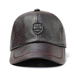 Warm Windproof PU Leather Cap -