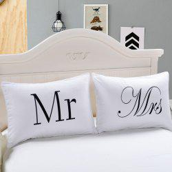 Fashion Simple Bedding Home Textile Couple Pillowcase 2pcs -