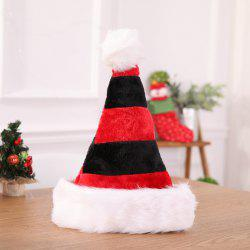 High-grade Double Plush Christmas Decoration Hat -