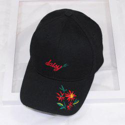 Rose Duck Tongue Embroidery Shade Neutral Baseball Cap -