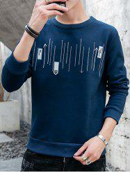 Men's Casual Round Neck Long-sleeved Shirt -