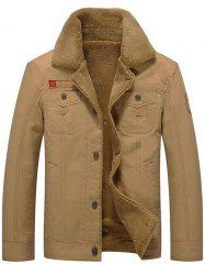 Plus Velvet Thick Cotton Tooling Large Size Jacket -
