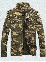 Men's Workout Special Forces Collar Cotton Camouflage Jacket -