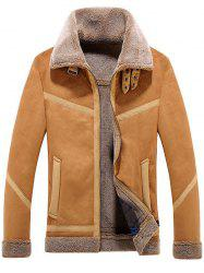Lamb Fur One Lapel Leather Jacket -