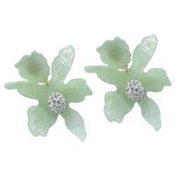 Flower Ear Pierced Clip 2PCS -