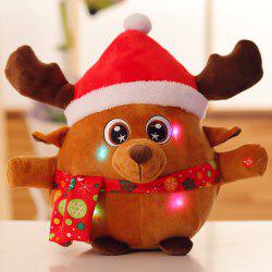 Shine Singing Music Santa Claus Doll Plush Toy Elk Figurine Christmas Event Gift -