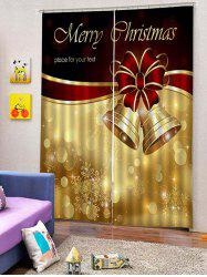 2PCS Merry Christmas Bell Window Curtains -