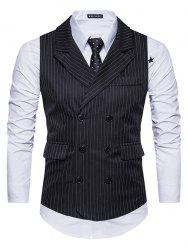 Men's Suit Striped Double-breasted Vest -