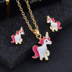 Fashion Oil  Creative Cartoon Horse Nail Necklace -