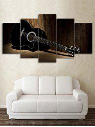 Wood Grain Guitar Print Unframed Split Canvas Paintings -
