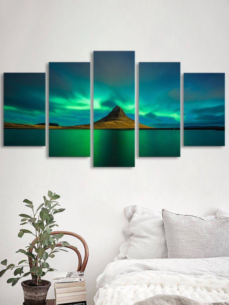 Fashion Aurora Lake Print Unframed Split Canvas Paintings