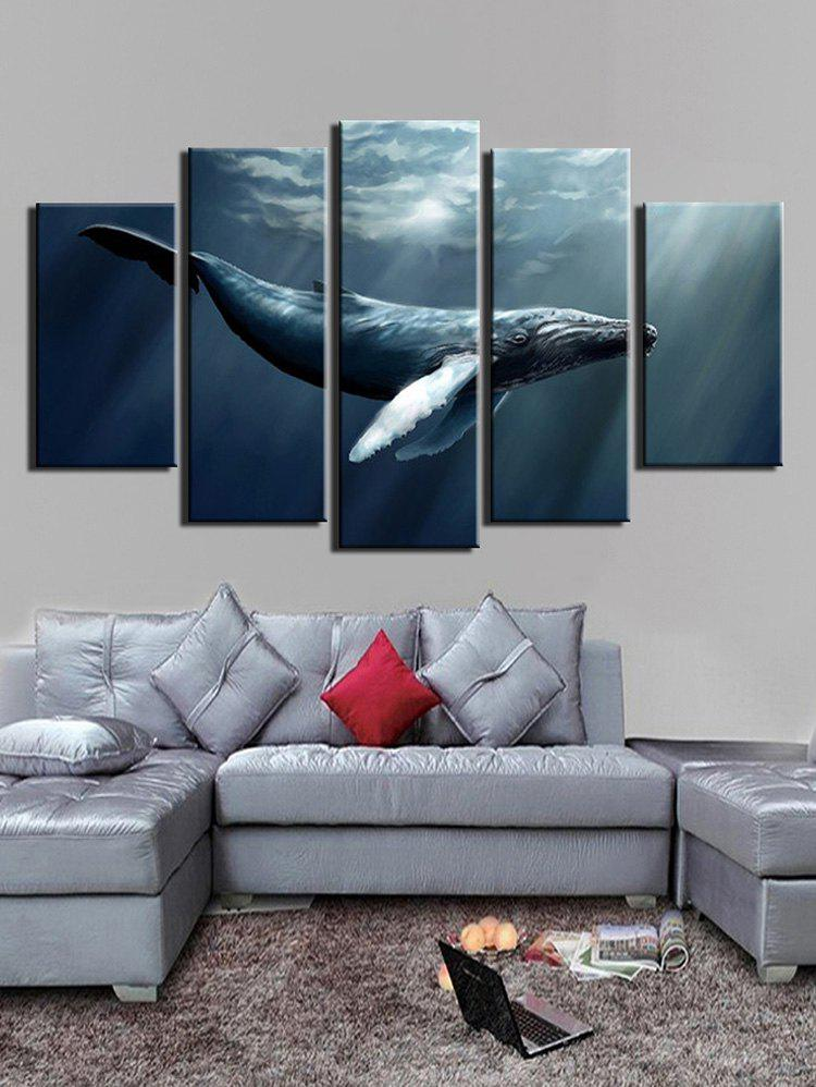 Unique Ocean Animal Print Unframed Split Canvas Paintings
