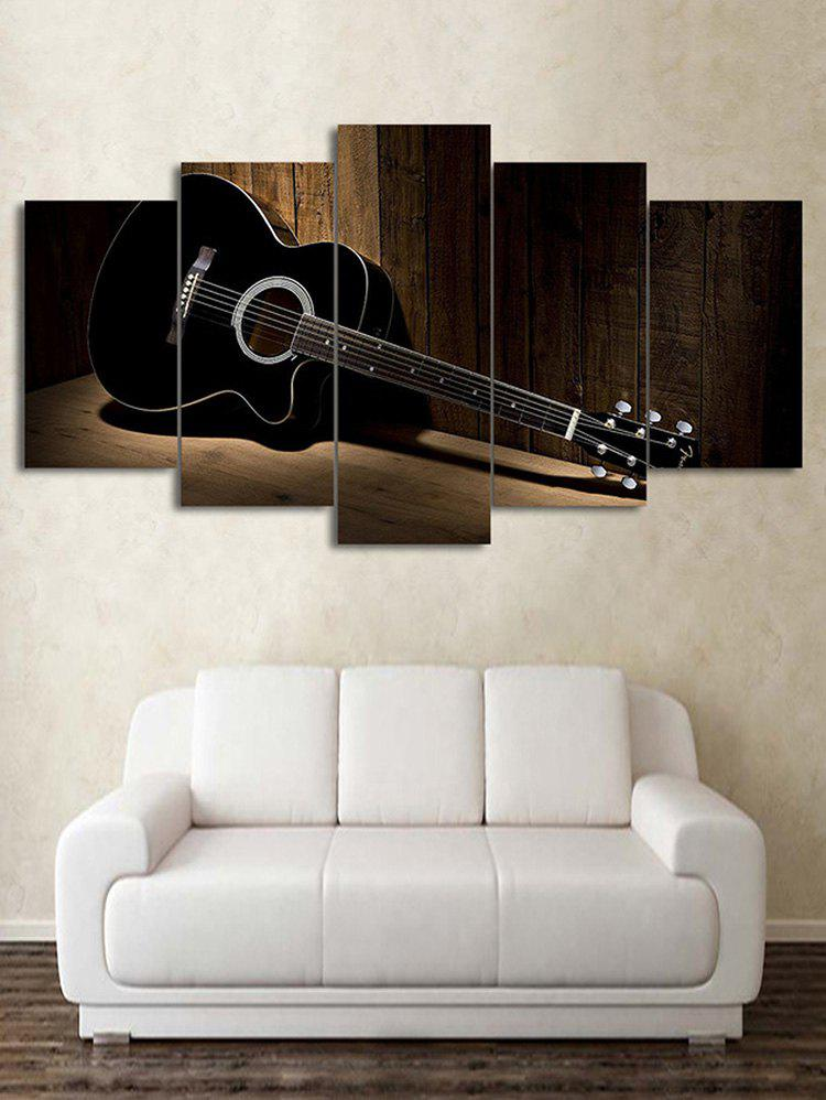 Fancy Wood Grain Guitar Print Unframed Split Canvas Paintings