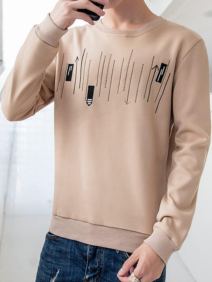 Shops Men's Casual Round Neck Long-sleeved Shirt