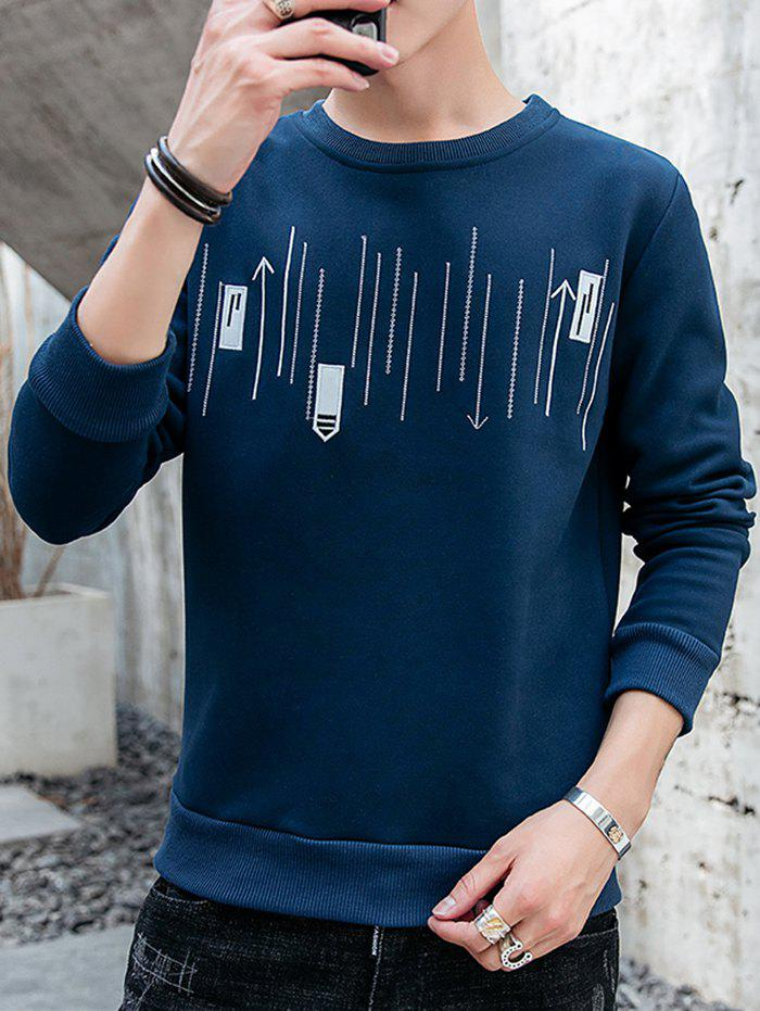 Trendy Men's Casual Round Neck Long-sleeved Shirt