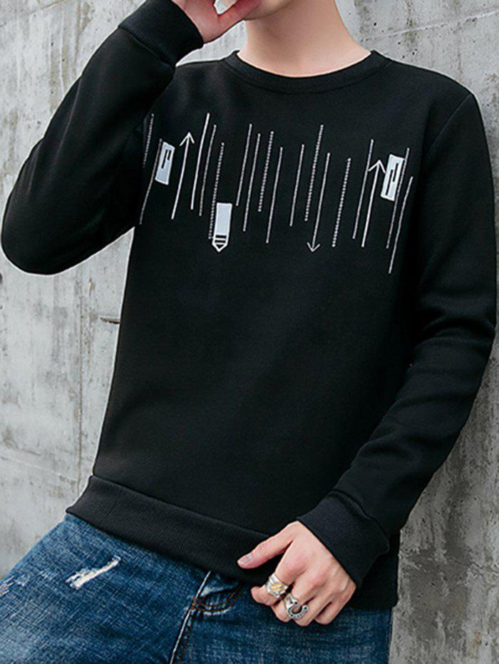 New Men's Casual Round Neck Long-sleeved Shirt