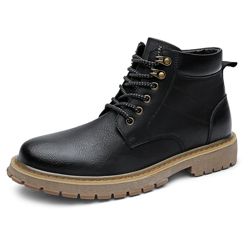 Outfit Men Leisure Boots Wearable Classic Lace-up