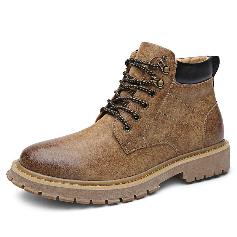 Buy Men Leisure Boots Wearable Classic Lace-up