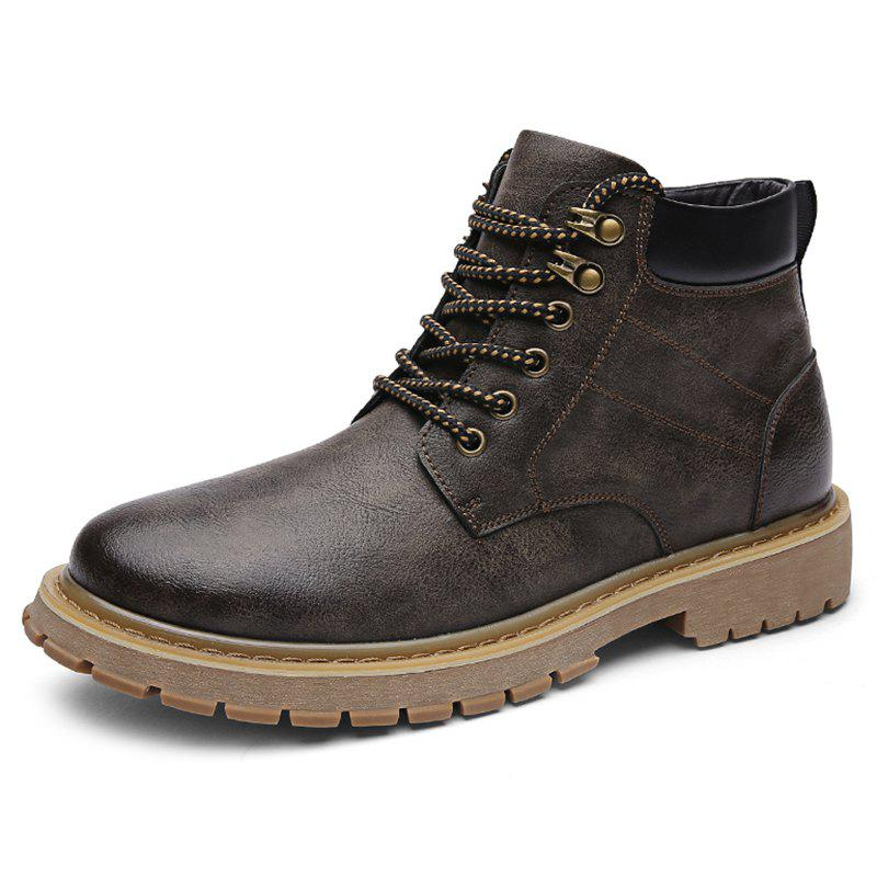 Trendy Men Leisure Boots Wearable Classic Lace-up