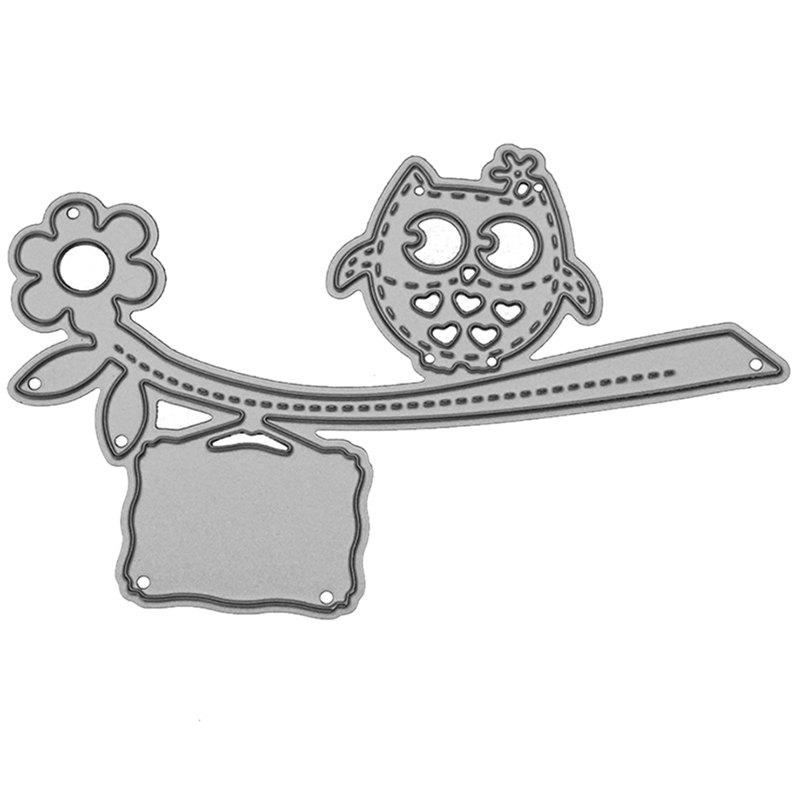 Latest 9 - LBE3512 Silver Carbon Steel Cutter Owl Cutting Dies