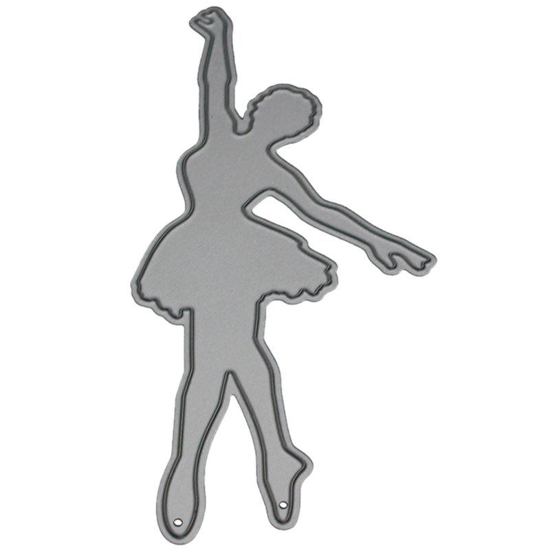 Fancy 9 - LBE3506 Silver Carbon Steel Cutting Dies Ballet Girl