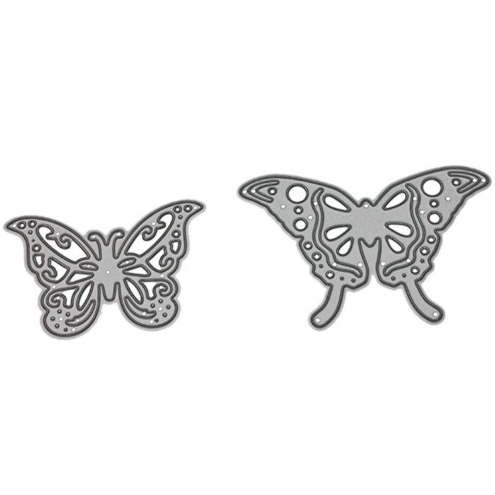 Cheap 9 -  LBE3499 Silver Carbon Steel Knife Mold Butterfly Cutting Dies 2pcs