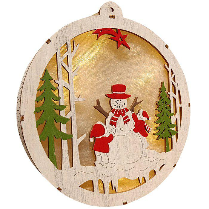 Fancy Christmas Decoration Wooden Bell Ornaments