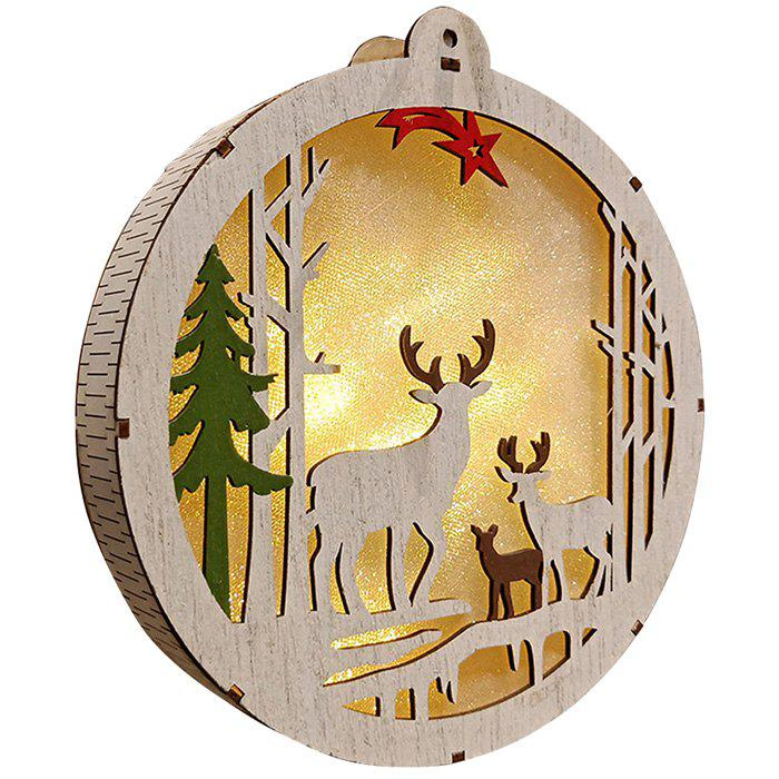 Trendy Christmas Decoration Wooden Bell Ornaments